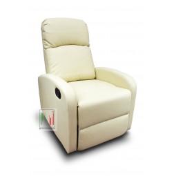 Poltrona recliner reclinabile a letto con alzapiedi meccanismo manuale