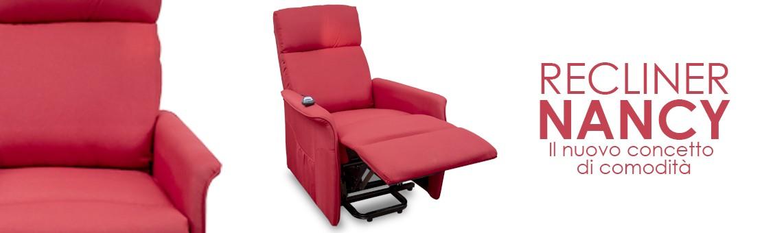 Il nuovo concetto di comodità risiede nella poltrona automatica, il vero riposo si chiama Nancy.